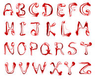 Red smoke letters alphabet Stock Photography