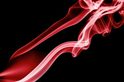 Red Smoke Trails Stock Images