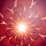 Red smooth twist light lines  background. Eps 10. Stock Photos