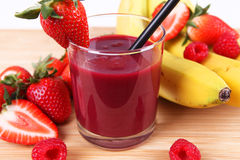 Red smoothie Stock Images