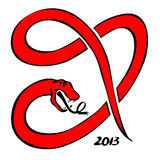Red snake 2013. Vector eps royalty free illustration