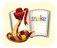 Red snake and a book Royalty Free Stock Images