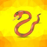 Red Snake Royalty Free Stock Photo