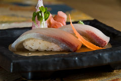 Red snapper nigiri. Golden eye red snapper nigiri Stock Image