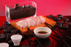 Red Snapper Sashimi with sake Royalty Free Stock Photo