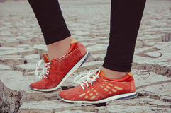 Red sneackers Royalty Free Stock Images