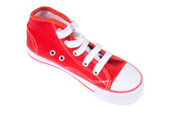 Red sneaker Royalty Free Stock Image