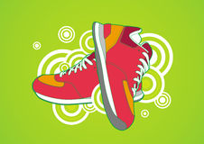 Red sneaker Royalty Free Stock Photos