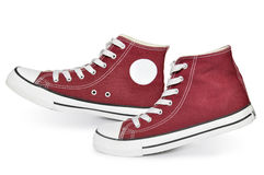 Red sneakers Royalty Free Stock Photography