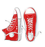 Red sneakers Stock Image