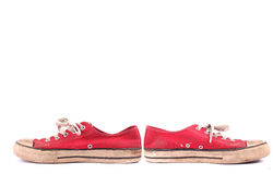 Red Sneakers isolated Royalty Free Stock Photography