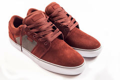 Red sneakers isolated Royalty Free Stock Images