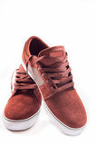 Red sneakers isolated Royalty Free Stock Photo