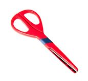 Red snipping tool. Office red scissors on white background Stock Photography