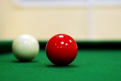 Red snooker ball Royalty Free Stock Photo