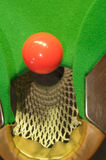 Red snooker ball near pocket Royalty Free Stock Photography