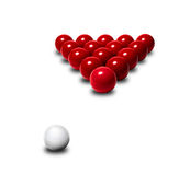 Red snooker balls Stock Photography