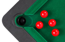 Red snooker balls Royalty Free Stock Photo