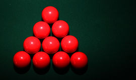 Red Snooker Balls on Table Royalty Free Stock Image