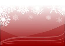 Red snow background illustration Stock Photo