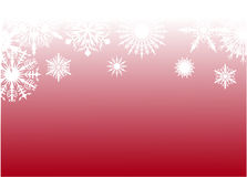 Red snow background pattern Royalty Free Stock Image
