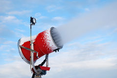Red snow cannon Royalty Free Stock Photography