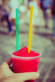 Red snow cone Royalty Free Stock Photos