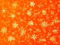 Red snow flake background. 3d rendering of a snowflake background, all flakes have a crystal material Royalty Free Stock Photo