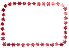 Red snow flake decoration garland Royalty Free Stock Image