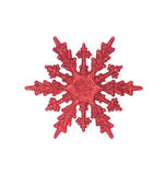 Red snow flake Stock Photography