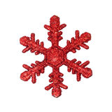 Red snow flake ornament Stock Photography