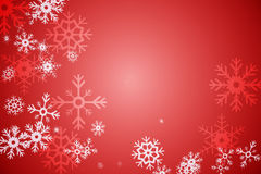 Red snow flake pattern design Royalty Free Stock Image