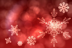 Red snow flake pattern design Stock Image