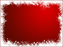 Red snow frame. Bakcground of christmas Stock Photo