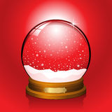 Red Snow Globe Stock Photo
