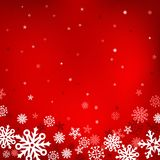 Red snow mesh background Stock Photo