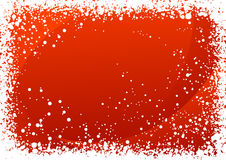 Red snowfall background Royalty Free Stock Photography