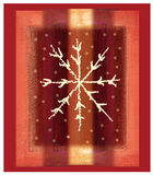 Red snowflake. Christmas snowflake on red background royalty free illustration