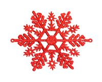 Red snowflake Royalty Free Stock Photography