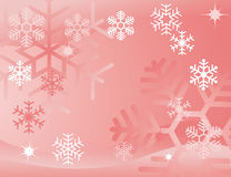 Red snowflake background Royalty Free Stock Images