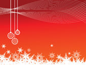 Red snowflake background. Vector christmas red snowflake background Stock Photos