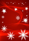 Red snowflake background. Illustration of decorative red snowflake background with copy space Royalty Free Stock Photo