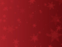 Red Snowflake Background Stock Photo