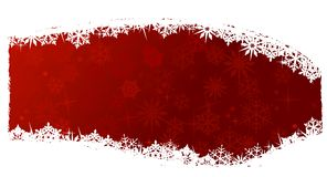 Red snowflake background. Grungy Christmas, winter snowflake background in red and white. Space for your text Royalty Free Stock Images