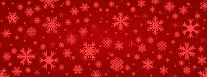 Red snowflake background with transparent snowflakes - for stock