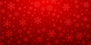 Free Red Snowflake Background With Transparent Snowflakes - Vector Royalty Free Stock Image - 133426006