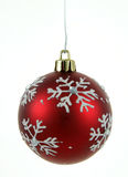 Red Snowflake Bauble Royalty Free Stock Photos