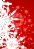 Red Snowflake Blur Background Royalty Free Stock Photography