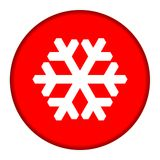 Red Snowflake button Stock Photos