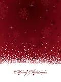 Red snowflake christmas Stock Image